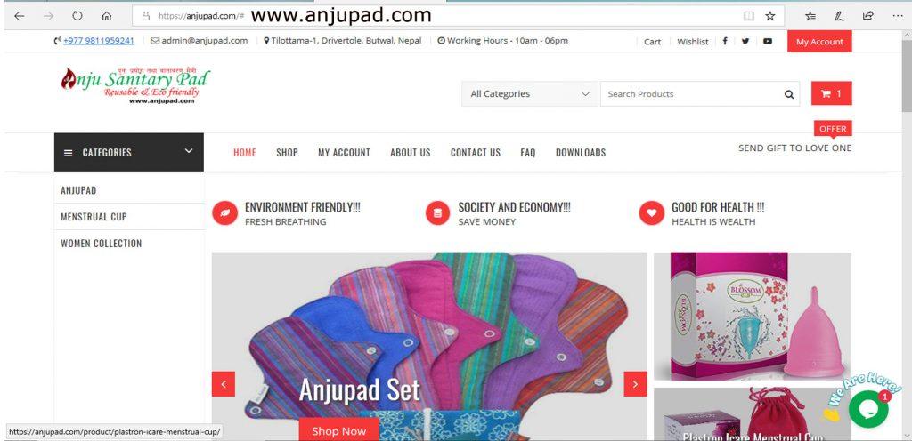 Anjupad.com home page