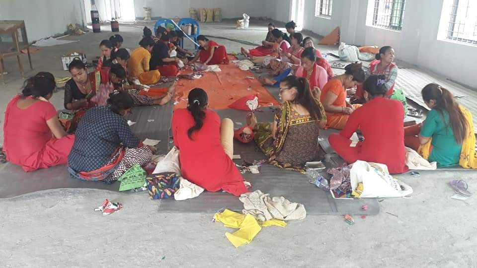 Reusable Sanitary Pad Training in hall